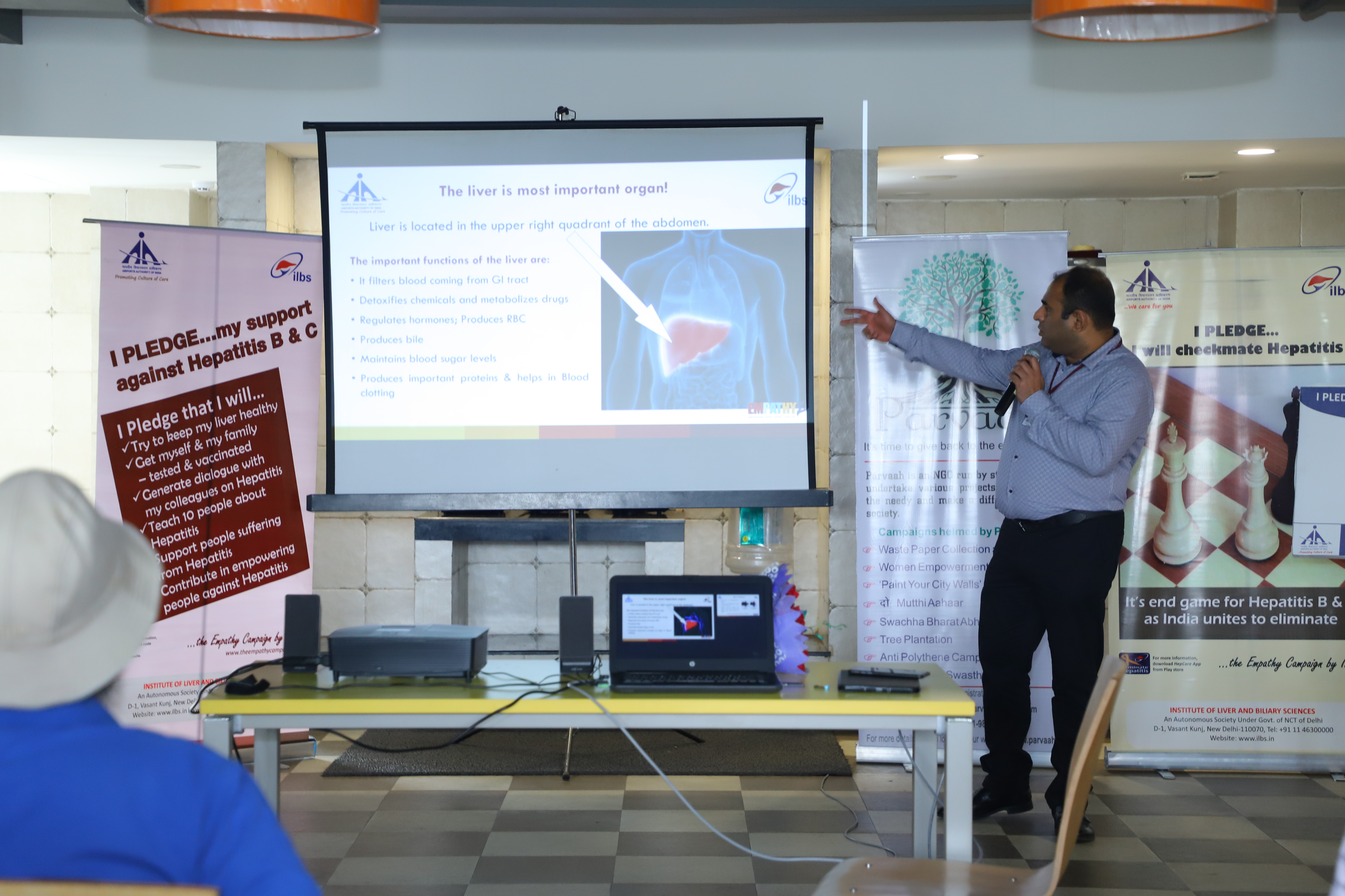Hepatitis Awareness Campaign by ILBS at Tiger Logistics